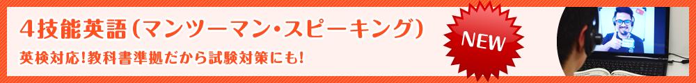 4技能英語(マンツーマン・スピーキング)